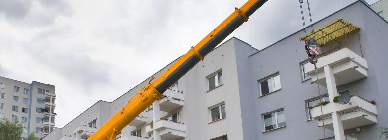 תמונת נושא: מנוף לקומה גבוהה בהרצליה
